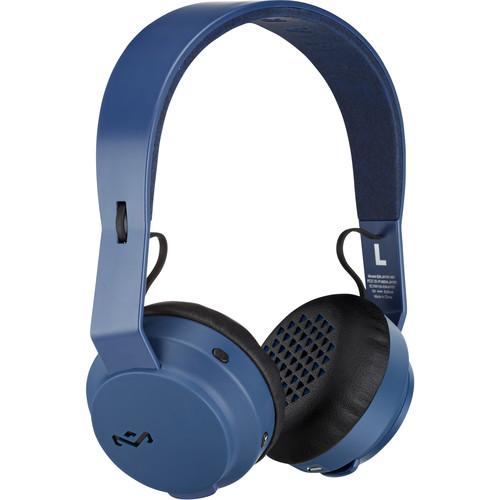 House of Marley The Rebel BT On-Ear Wireless Bluetooth Headphones (Navy)