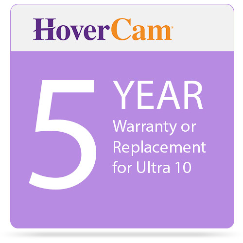 Hover Camera 5 Year Warranty or Replacement for Ultra 10