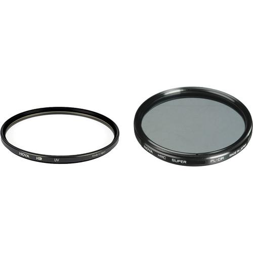 Hoya 55mm UV and Circular Polarizer Multicoated Filter Kit