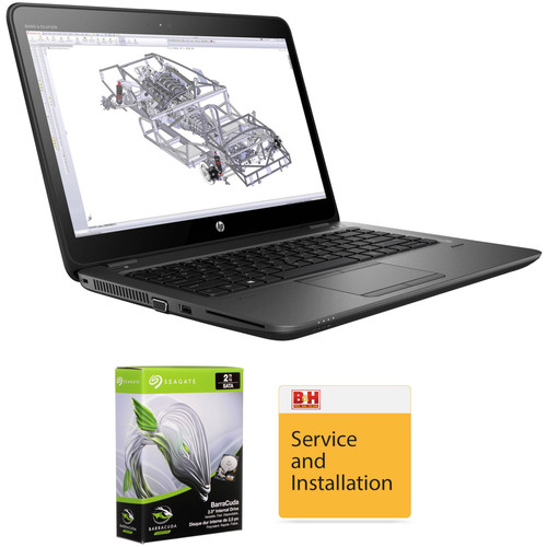 "HP 14"" ZBook 14u G4 Multi-Touch B&H Custom Mobile Workstation"