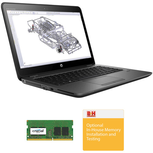 "HP 14"" ZBook 14u G4 B&H Custom Mobile Workstation"