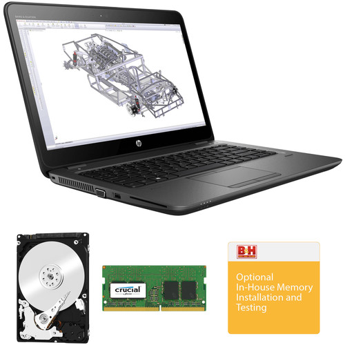 "HP 14"" ZBook 14u G4 Multi-Touch B&H Custom Mobile Workstation"