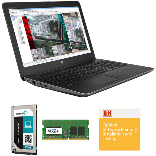 """HP 15.6"""" ZBook 15 G3 Mobile Workstation Kit with 16GB RAM and 756GB of Storage"""