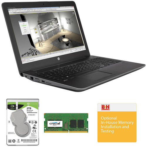 "HP 15.6"" ZBook 15 G4 B&H Custom Mobile Workstation"