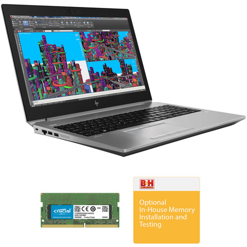 """HP 15.6"""" ZBook 15 G5 Multi-Touch B&H Custom Mobile Workstation"""