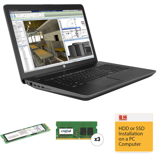 """HP 17.3"""" ZBook 17 G3 Mobile Turnkey Workstation with 32GB RAM and 256GB SSD"""