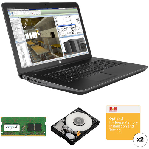 "HP 17.3"" ZBook 17 G3 Mobile Turnkey Workstation with 32GB RAM and 1TB Hard Drive"