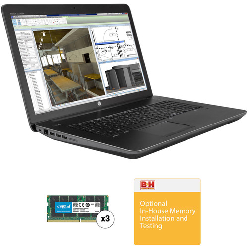 "HP 17.3"" ZBook 17 G3 B&H Custom Mobile Workstation"