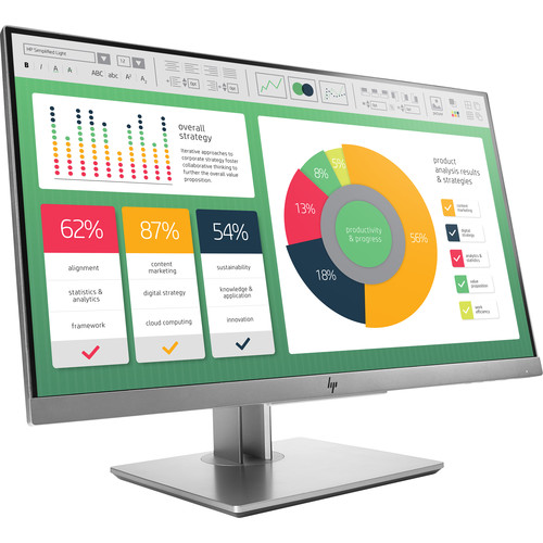 "HP EliteDisplay E223 21.5"" Full HD Monitor (Silver)"