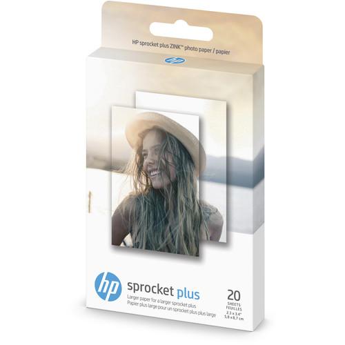 HP Sprocket Plus Photo Paper (20 Sheets, 2 x 10 Packs)