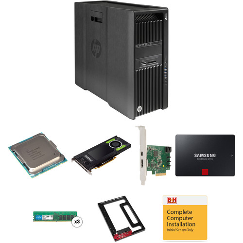 HP Z840 Series Turnkey Workstation with 2nd Xeon E5-2620 v4, 32GB RAM, 1TB SSD, Drive Bracket, Quadro M4000, and Thunderbolt 2 Card