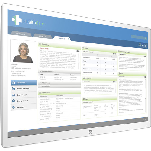"""HP 27"""" HC271 QHD LED-LCD Clinical Review Monitor (White)"""
