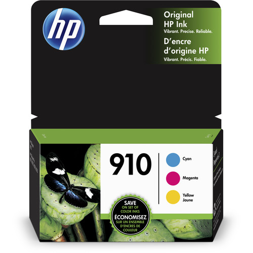 HP 910 Standard-Capacity Tri-Color Ink Cartridge Set (3-Pack)