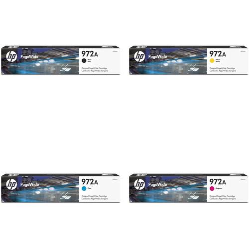 HP 972A Original PageWide 4-Cartridge Kit (Black/Yellow/Cyan/Magenta)
