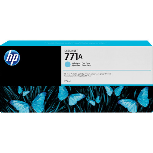 HP 771A DesignJet 775mL Light Cyan Ink Cartridge