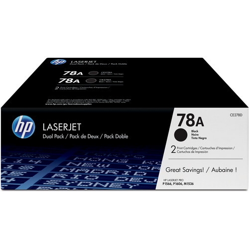 HP 78A LaserJet Black Toner Cartridge Dual Pack