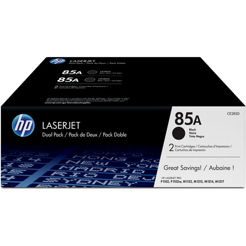 HP 85A LaserJet Black Toner Cartridge Dual Pack