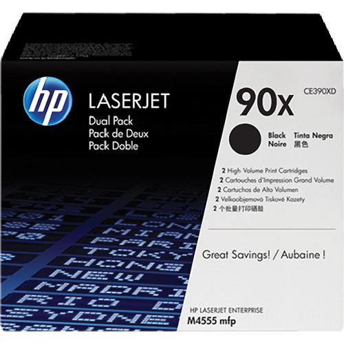 HP 90X LaserJet High-Yield Black Toner Cartridge Dual Pack