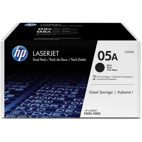 HP 05A LaserJet Black Toner Cartridge Dual Pack