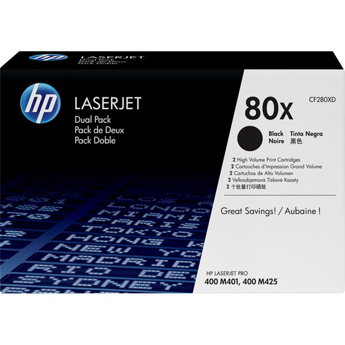HP 80X LaserJet Black Toner Cartridge Dual Pack