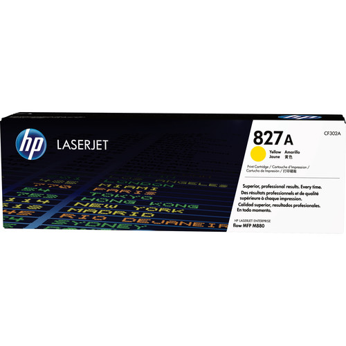 HP 827A Yellow LaserJet Toner Cartridge