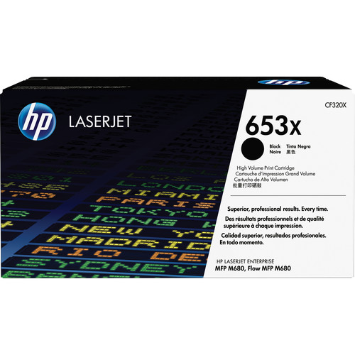 HP 653X High Yield Black LaserJet Toner Cartridge