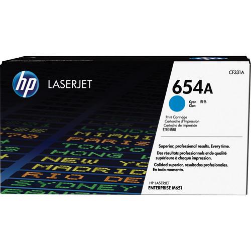 HP 654A Cyan LaserJet Toner Cartridge