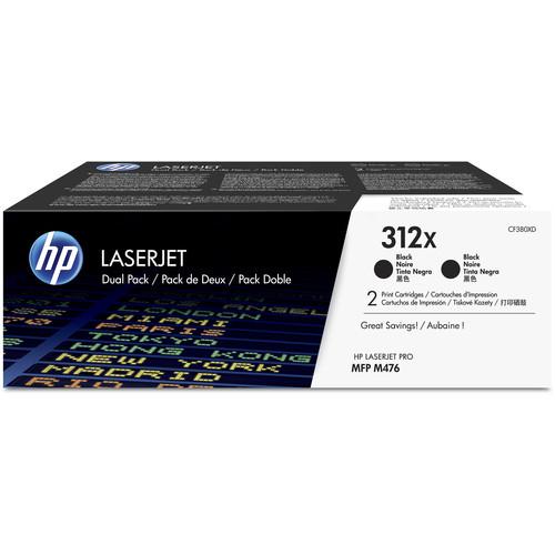 HP 312X Black High Yield LaserJet Toner Cartridge (2-Pack)