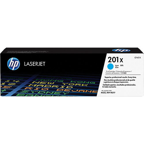 HP 201X High Yield Cyan Toner Cartridge