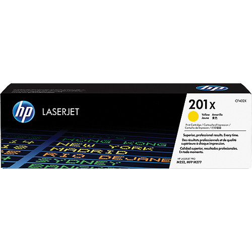 HP 201X High Yield Yellow Toner Cartridge