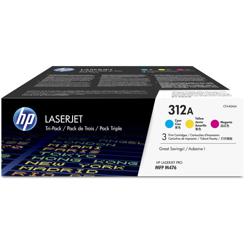 HP CLJ Pro MFP M476 312A Toner Cartridge 3-Pack (CMY)