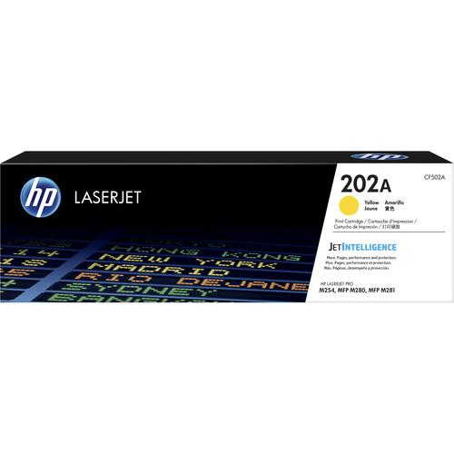 HP 202A LaserJet Toner Cartridge (Yellow)