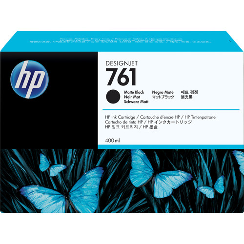 HP 761 Matte Black Designjet Ink Cartridge (Pigment, 400 ml)