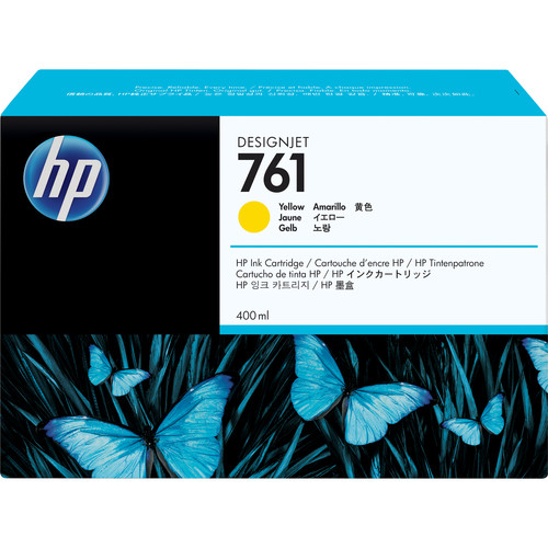 HP 761 Yellow Designjet Ink Cartridge (Dye, 400 ml)