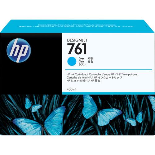 HP 761 Cyan Designjet Ink Cartridge (Dye, 400 ml)