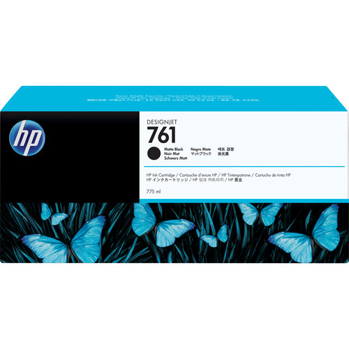 HP 761 Matte Black Designjet Ink Cartridge (Pigment, 775 ml)