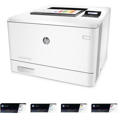 HP Color LaserJet Pro M452dn Printer with Extra 410A Toner Set Kit