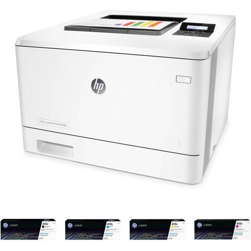 HP Color LaserJet Pro M452dn Printer with Extra 410X Toner Set Kit