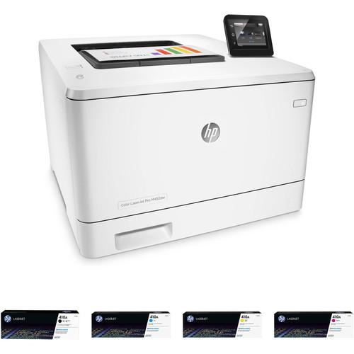 HP Color LaserJet Pro M452dw Printer with Extra 410A Toner Set Kit