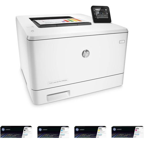 HP Color LaserJet Pro M452dw Printer with Extra 410X Toner Set Kit