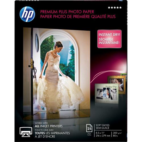 "HP Premium Plus Soft-Gloss Photo Paper (8.5 x 11"", 25 Sheets)"