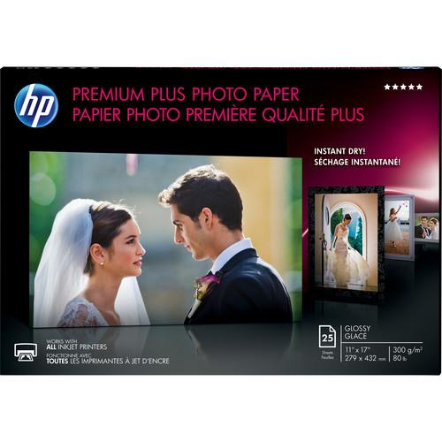 "HP Premium Plus Glossy Archival Photo Paper (11 x 17"", 25 Sheets)"