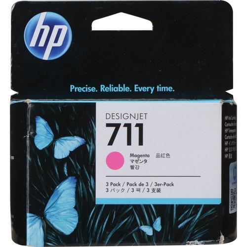HP 711 Magenta Ink Cartridge (29mL, 3-Pack)