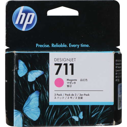 HP 711 Magenta Ink Cartridge (3-Pack)