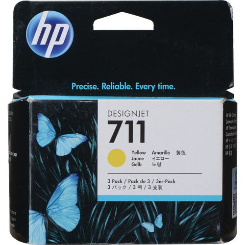 HP 711 Yellow Ink Cartridge (29mL, 3-Pack)