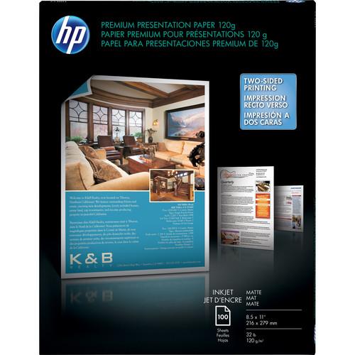 "HP Premium Inkjet Matte Presentation Paper- 8.5 x 11"" (100 Sheets)"