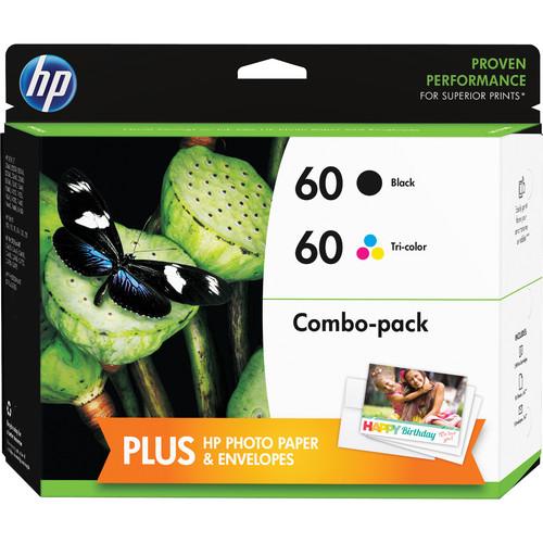 Hp 60 Ink Cartridge Combo Pack D8j23fn 140 B Amp H Photo Video