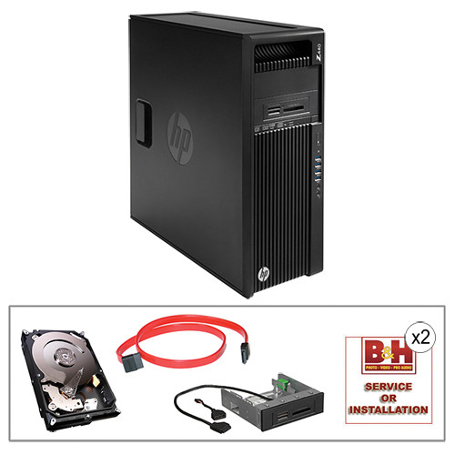 HP Z440 Series F1M44UT Turnkey Workstation with 4TB HDD and 15-in-1 Media Card Reader