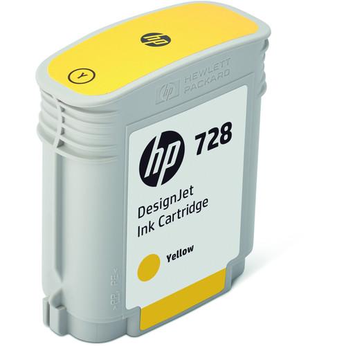 HP 728 Yellow DesignJet Ink Cartridge (40ml)