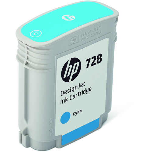 HP 728 Cyan DesignJet Ink Cartridge (40ml)